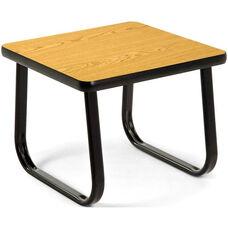 End Table with Sled Base - Oak