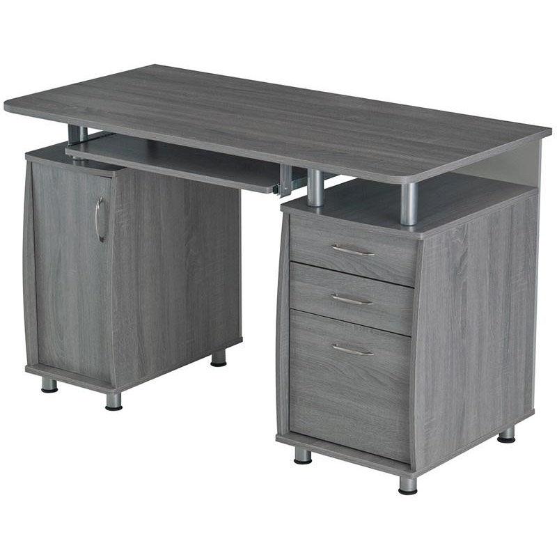 - Complete Workstation Desk RTA-4985-GRY Bizchair.com
