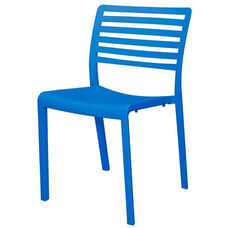Savannah Outdoor Stackable Armless Side Chair - Blue