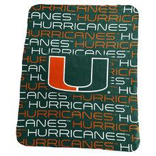 University of Miami Team Logo Classic Fleece Throw