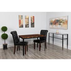 "Avalon 30"" x 45.75"" Rectangular Dining Table in Swirled Chocolate Marble-Like Finish"