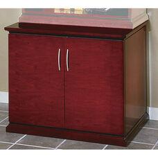 OSP Furniture Mendocino Hardwood Veneer Storage Cabinet with Metal Door Pulls