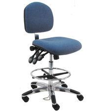 Deluxe Ergonomic ESD - Anti Static Fabric Chair - Aluminum Base