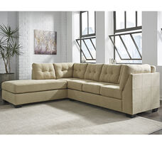 Benchcraft Maier Sectional with Left Side Facing Chaise in Cocoa Microfiber