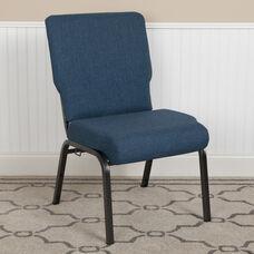 Advantage 20.5 in. Blue Basket Weave Molded Foam Church Chair
