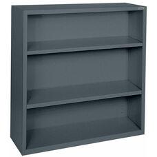 Elite Series 46'' W x 18'' D x 42'' H Three Shelf Welded Bookcase - Charcoal