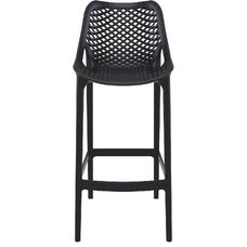 Air Modern Resin Outdoor Bar Stool - Black