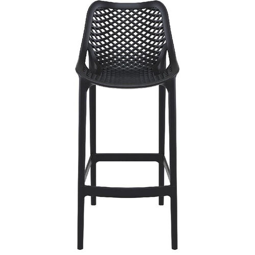 Our Air Modern Resin Outdoor Bar Stool - Black is on sale now.