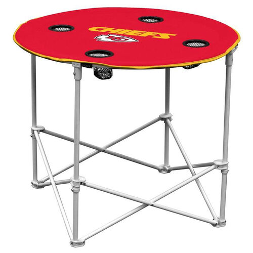 Our Kansas City Chiefs Team Logo Round Folding Table is on sale now.