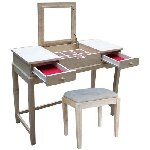 Two Piece Vanity Table Bench Set K-BE-2-DT-2 | Bizchair.com
