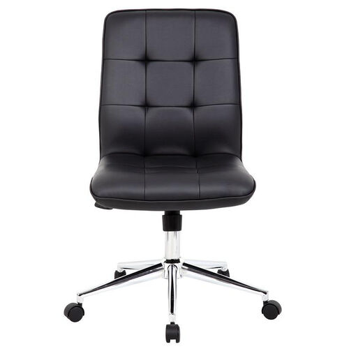Our Modern CaressoftPlus Office Chair with Chrome Base and Hooded Casters - Black is on sale now.