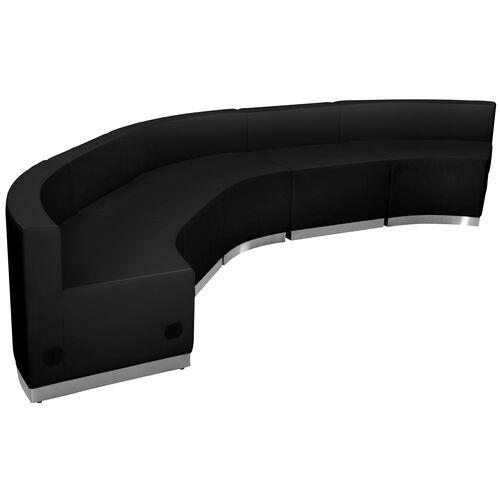 Our HERCULES Alon Series Black Leather Reception Configuration, 5 Pieces is on sale now.