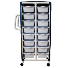 Specialty Cart with 16 Pull Out Tubs and Mesh Cover and Casters - 21.5