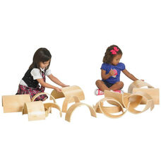Birch 10 Piece Tunnels and Arches Building Blocks Set - Four Different Widths