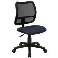 Mid-Back Navy Blue Mesh Swivel Task Office Chair