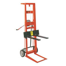 Two-Wheeled Winch Model Steel Frame Pedal Lift With Fork Lifter