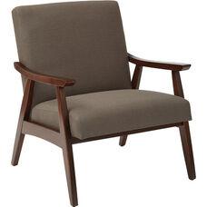Ave Six Davis Fabric Accent Chair - Klein Otter and Medium Espresso