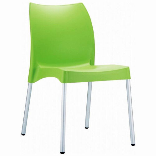 Our Vita Outdoor Resin Stackable Dining Chair with Aluminum Legs - Apple Green is on sale now.