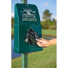 Green Polyethylene Junior Bag Dispenser