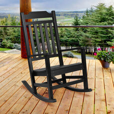 Winston All-Weather Rocking Chair in Black Faux Wood
