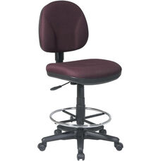 Work Smart Armless Drafting Chair with Adjustable Footring and Casters
