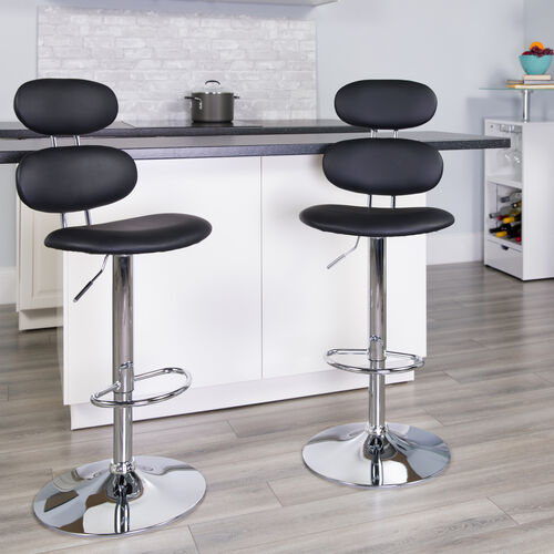 Our Contemporary Vinyl Adjustable Height Barstool with Ellipse Back and Chrome Base is on sale now.