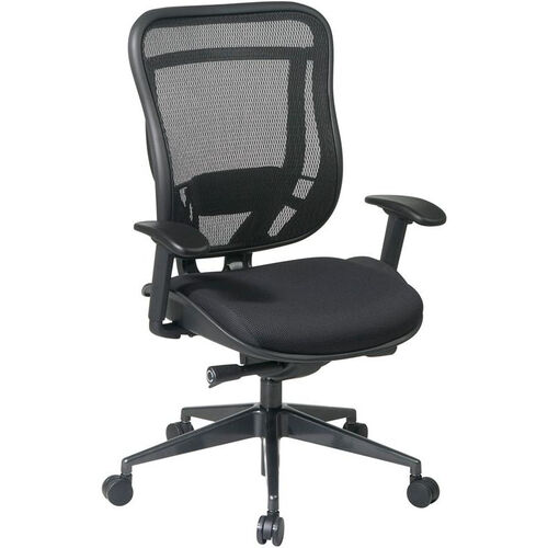 Our Space 818 Breathable Mesh Back and Black Mesh Seat Executive Office Chair with 2-to-1 Synchro Tilt- Black is on sale now.