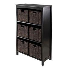 Terrace 7-Pc Storage 4-Tier Shelf with 6 Small Baskets