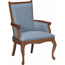 5630 Upholstered Lounge Chair w/ Exposed Wood - Grade 1