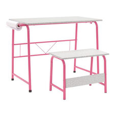 Studio Designs Project Center Set with Matching Bench - Pink