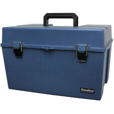 Blue Large Lockable Carrying Case with Black Handle and Durable Construction - 12