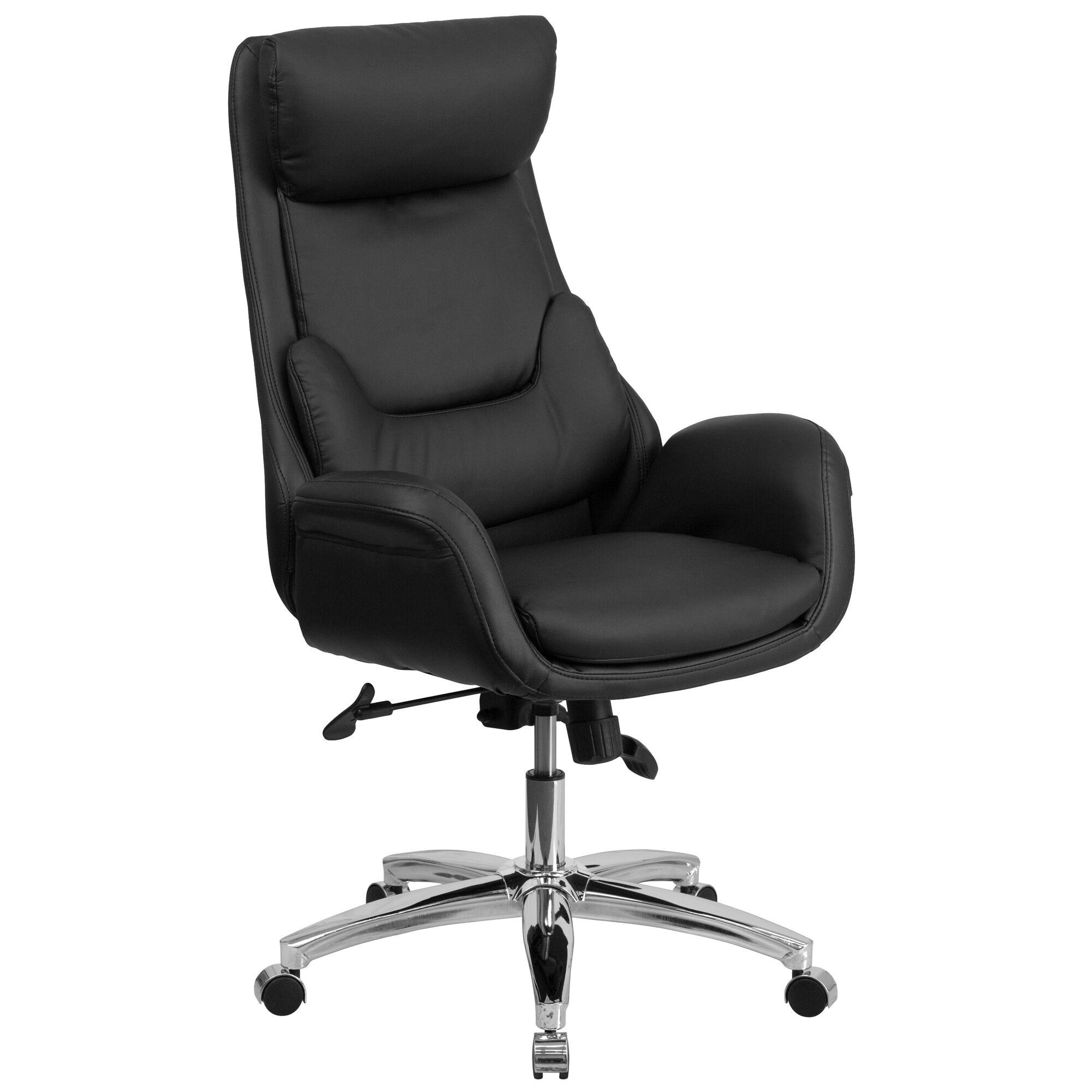 Black High Back Leather Chair Bt 90027oh Gg Bizchair Com