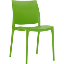 Martinique Lightweight Indoor/ Outdoor Stackable Side Chair - Green