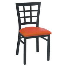 Window Back Metal Dining Chair - Grade 4 Vinyl