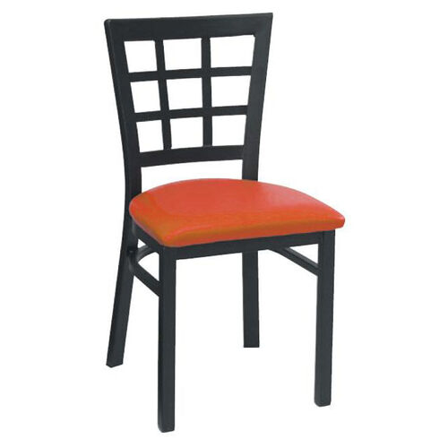 Our Window Back Metal Dining Chair - Grade 4 Vinyl is on sale now.