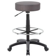 DOT Molded Foam Seat Mesh Drafting Stool - Charcoal Grey