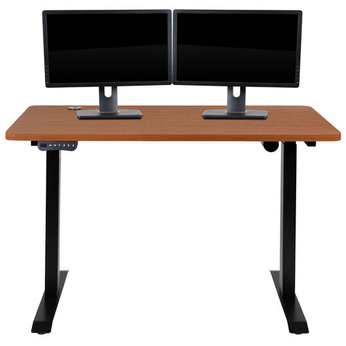 "Our Electric Height Adjustable Standing Desk - Table Top 48"" Wide - 24"" Deep (Mahogany) is on sale now."