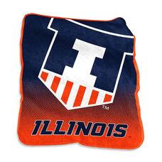 University of Illinois Team Logo Raschel Throw