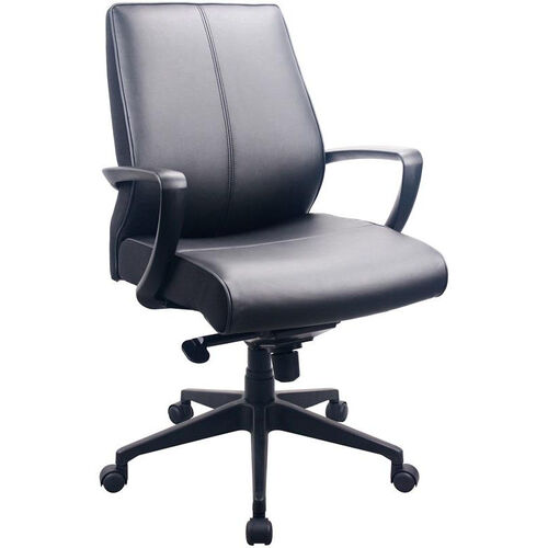 Our Tempur-Pedic® Leather Mid Back Chair - Black is on sale now.