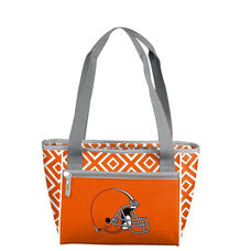Cleveland Browns Team Logo Double Diamond 16 Can Cooler