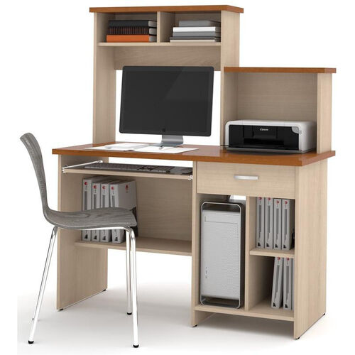 Active Computer Workstation - Copper Cherry and Northern Maple