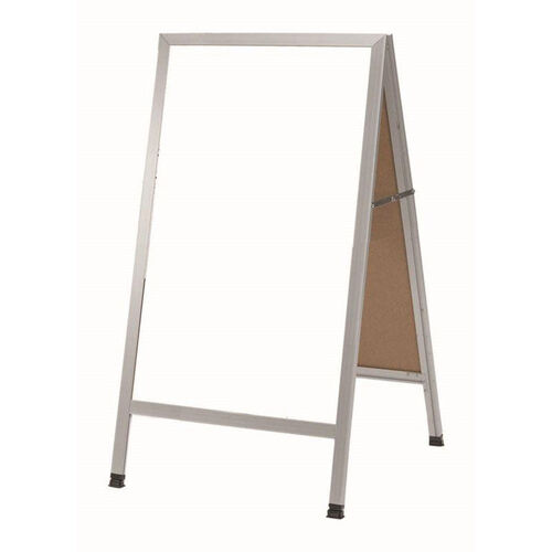 A-Frame Sidewalk White Melamine Marker Board with Aluminum Frame - 42