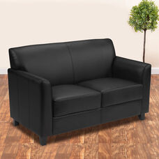 HERCULES Diplomat Series Black LeatherSoft Loveseat