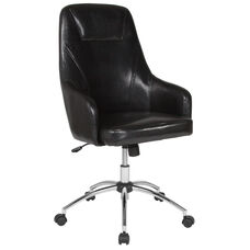 Rennes Home and Office Upholstered High Back Chair in Black LeatherSoft