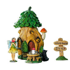 Treehouse 5 Piece Miniature Fairy Garden Set