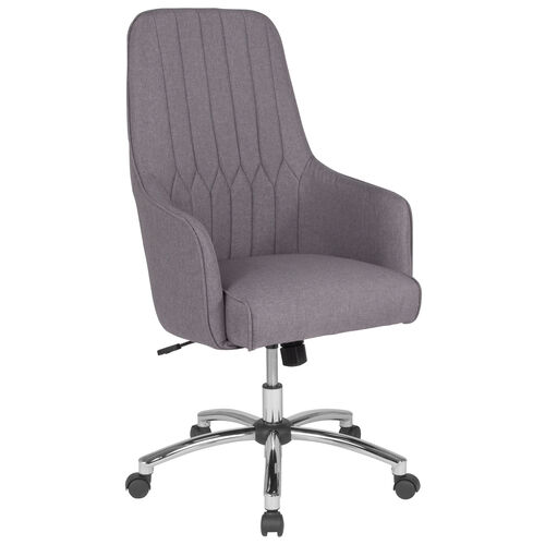 Our Albi Home and Office Upholstered High Back Chair in Light Gray Fabric is on sale now.