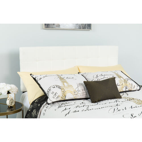 Our Bedford Tufted Upholstered Twin Size Headboard in White Fabric is on sale now.