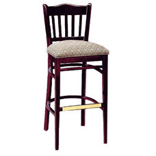 3471 Bar Stool w/ Upholstered Seat and Brass Trim on Foot Rest - Grade 1