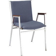400 Series Stacking Square Steel Frame Hospitality Armchair with Full Back and 2'' Upholstered Seat