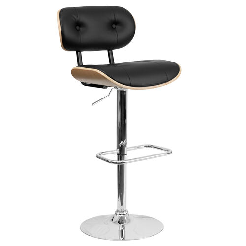 Our Beech Bentwood Adjustable Height Barstool with Button Tufted Black Vinyl Seat is on sale now.